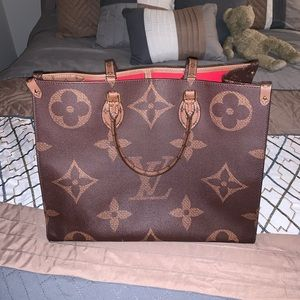 """Louis Vuitton OnTheGo Giant Monogram-Esque"" tote"